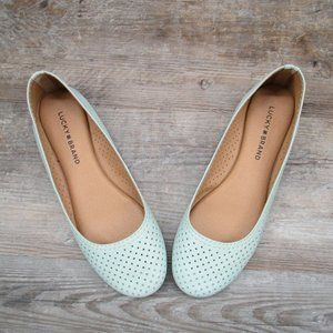 Lucky Brand Everlee Flats Perforated Green 8.5
